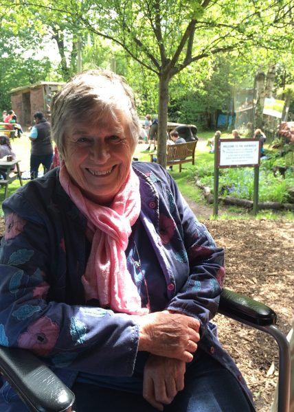 Glenys Thomas, Trustee, at the Spring Event Martineau Gardens