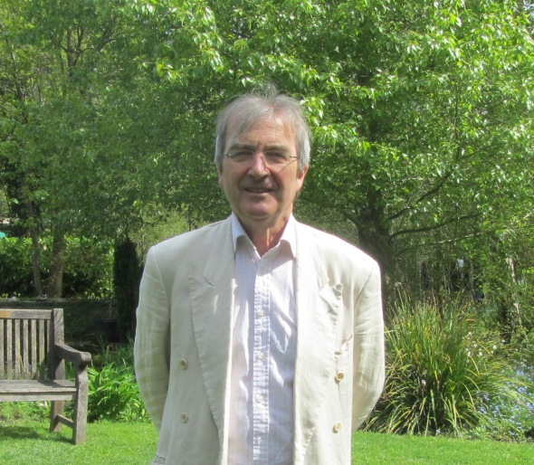 Peter Arnold, Trustee, in the Sun Dial Lawn Martineau Gardens